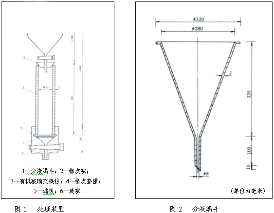 7.1.3 样品的保存:将经上述处理的样品置于500mL广口瓶中,样品上应有2cm-3cm的纯水。   7.2 测定范围粒度的筛分操作程序   7.2.1 试样的量取将玻璃管缓慢插至广口瓶底部,取出样品,置于预先放有少量纯水的100mL量筒中,树脂层中应无气泡,礅实,直至树脂体积恒定在100mL为止。   7.