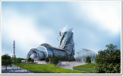 上海航天博物馆建筑概念性方案设计(与美国larc studio公司联合竞标